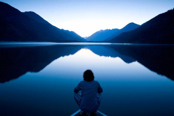 Man-on-a-lake