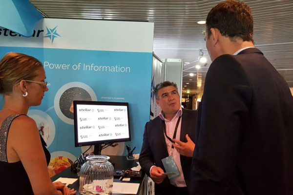 Stellar Consulting booth at SUNZ 2016 - SAS Users New Zealand