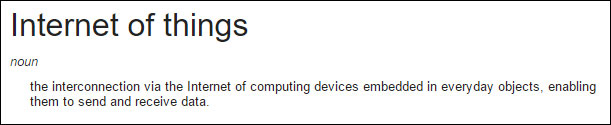 Definition of Internet of Things