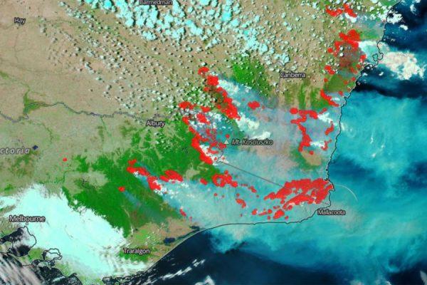 Australia bushfire map